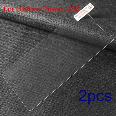 2xGenuine Anti-Scratch 9H Tempered Glass Screen Protector For Ulefone Power 3/3S
