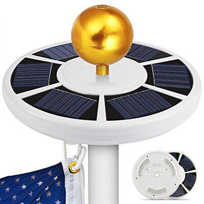 Solar Flag Pole Light with Hook Waterproof Downlight for Outdoor Camping 42 LED