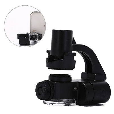 universal mobile phone microscope lens 90x optical zoom magnifier LED light