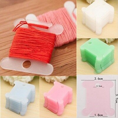 100Pcs Embroidery Floss Craft Thread Bobbin Cross Stitch Storage Holder AU