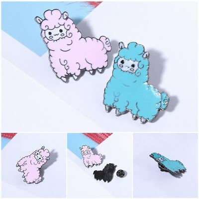 Cute Sheep Alpaca Brooch Cartoon Animal Jacket Collar Lapel Badge Pins Button
