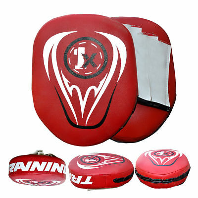 1x Rex Leather Focus Pads,Hook and Jab Mitts,MMA Kick Boxing Muay Thai Sparring