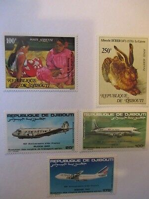 Djibouti Stamps - Air - 1978 & 1983-  Small Collection .