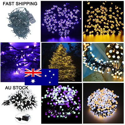 250 400 500 LED Warm White/Purple String Fairy Lights Xmas Indoor Party Decor AU