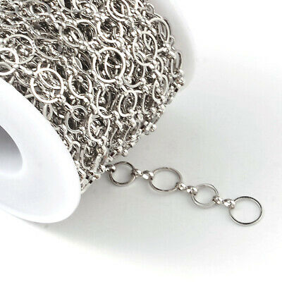 10m/Roll Brass Handmade Mother-son Chains For Necklace Jewelry Making Chain