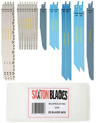 Saxton 20 Blade Reciprocating Sabre Saw Combo Wood & Metal Bosch Makita Dewalt