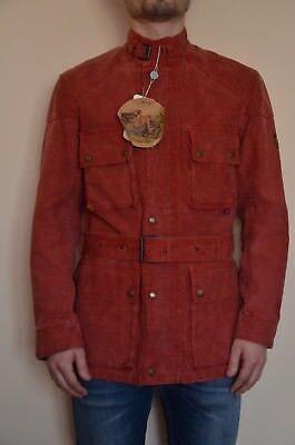 Belstaff Roadmaster Jacket Che Guevara Waxed Cotton Motorcycle Jeans Trench 44