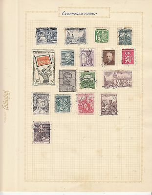 CZECHOSLOVAKIA EARLY COLLECTION on old album Page USED....