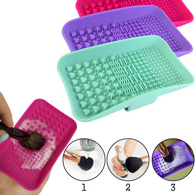 HOT! Silicone Makeup Brush Cleaner Pad Washing Scrubber Board Cleaning Mat Glove