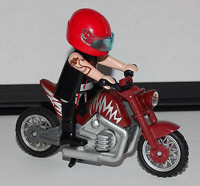 playmobil moto de course custom motard equipe occasion eur 12 00 picclick fr. Black Bedroom Furniture Sets. Home Design Ideas