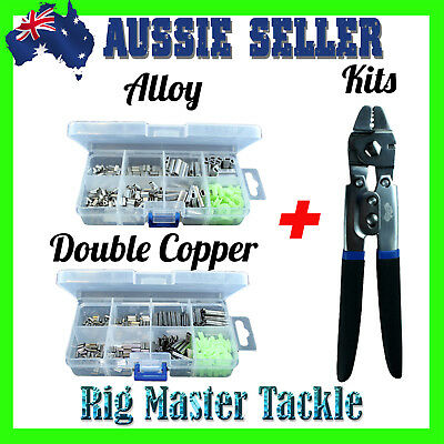 Choose Alloy OR Double Copper Sleeves Box OR Crimping Tool PLUS Crimps Box Kit