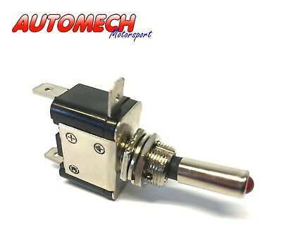 Very Heavy Duty Motorsport On/Off Switch, Spade Terminals, with Light  (758)