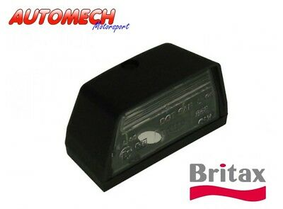 GENUINE BRITAX Quality Black Number Plate Lamp with Bulb 12V (982)