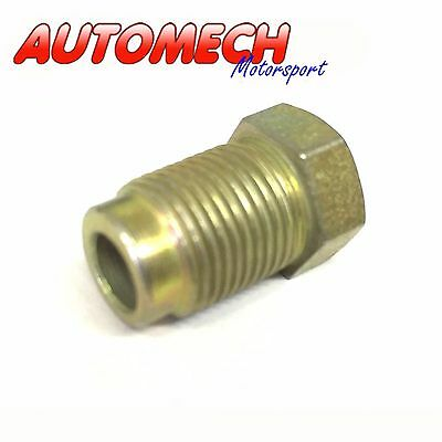"""Automech Brake Pipe union M12x1.0 for 3/16"""" Pipe Pack of 2, Plated Finish(U26)"""