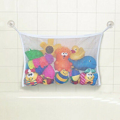Kids Baby Bath Time Toy Tidy Storage Net Bag Mesh Bathroom Organiser Suction Cup