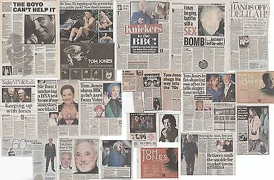 TOM JONES : CUTTINGS COLLECTION -interviews adverts-