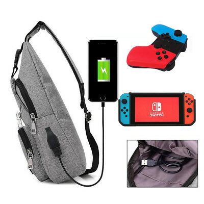 For Nintendo Switch Backpack Crossbody Travel Bag Console Joy-Cons Accessories X