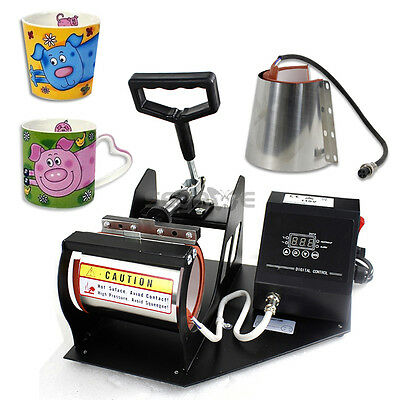 Heat Press Transfer Sublimation Machine Dual Digital for Cup Coffee Mug 11/12oz