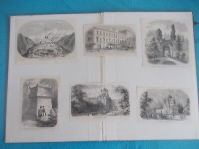1870 Lots of 6 The Illustrated London News Architecture Antique Print # 3