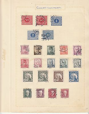 CZECHOSLOVAKIA EARLY COLLECTION on old album Page MINT/USED