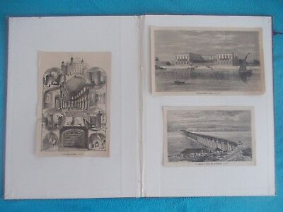 1878 Lots of 3 Architecture Illustrierte Welt Engraving Antique Print # 6