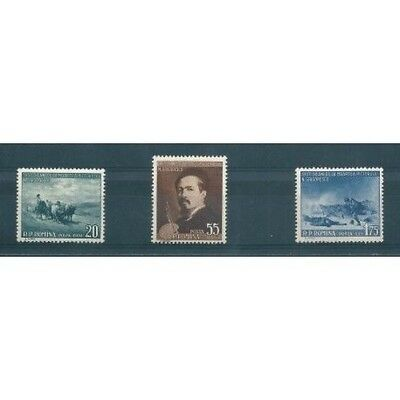 1957 Romania 50 Dying By Grigorescu 3 Values New Mnh Mf40605