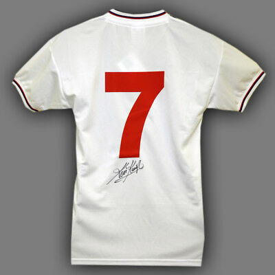 Kevin Keegan Hand Signed No 7 England Replica Football Shirt  : New