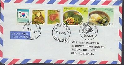 KOREA 2001 AIR MAIL Letter to AUSTRALIA Nice Condition