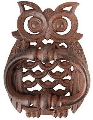 Owl Cast Iron Door Knocker Accessories - Vintage Rustic Bird Home Decor Antique