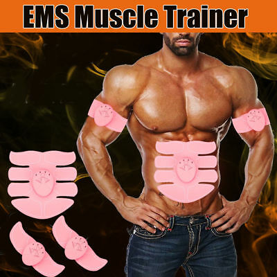 ABS Simulator EMS Training Body Abdominal Muscle Exerciser AB & Arms US