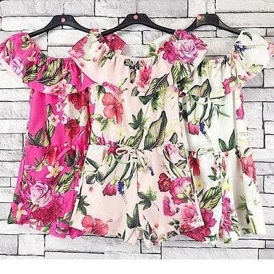 Girls Floral Playsuit (Pale Pink Only) Other sizes available