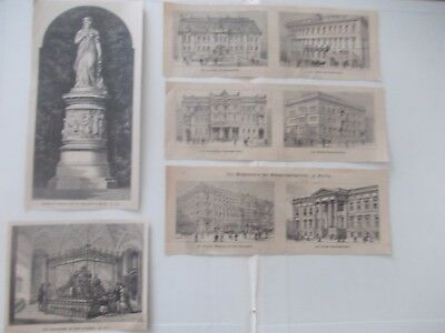 1878 Lots of 5 London Berlin Architecture Illustrierte Welt Antique Print # 7