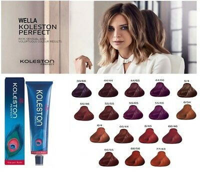 Wella Koleston Perfect Permanent Professional Hair Color 60 ml - VIBRANT REDS