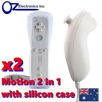2 x Remote Controller Wiimote Motion for Nintendo Wii U & Nunchuck 6 in 1 deal
