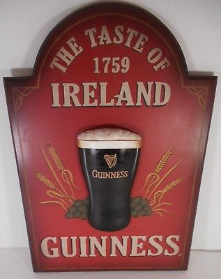 3D Wooden Guinness Beer Sign The Taste of 1759 Ireland