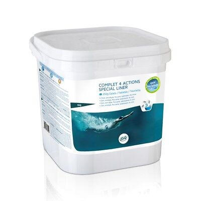 Tablets Pool With Liner Complet 4 Actions Chlorine Ph Algaecide And Flocculant