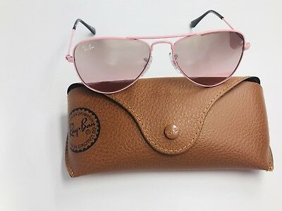 New Ray Ban Jr KIDS RJ9506S 211/7E Pink Sunglasses w/Mirror 50mm with Case