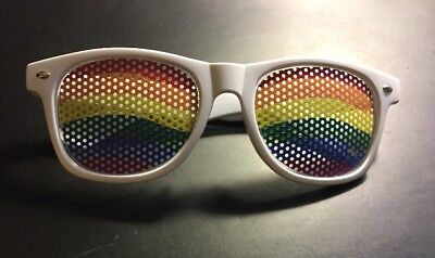 New White Frame Rainbow HBO Shade Party Sunglasses Summer Beach Toys Kids Adults