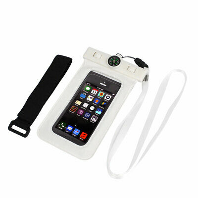 Waterproof Swimming Pouch Bag Case White for iPhone 6 w Compass