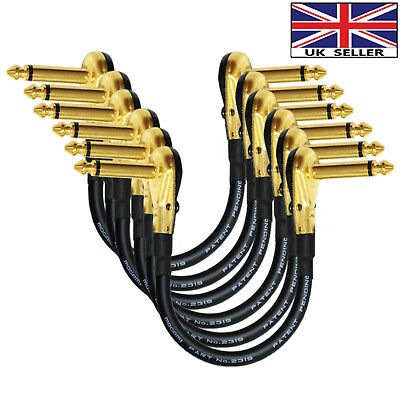 2x91cm Mogami 2319-Guitar Bass Effects Instrument Pedal Stomp Patch Cable Gold