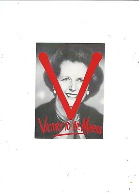 Political Postcard  Margaret Thatcher Victory To The Miners