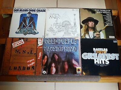 30x Hard Rock Blues LP Vinyl Sammlung Purple Floyd Rainbow Mayall Quo Beatles