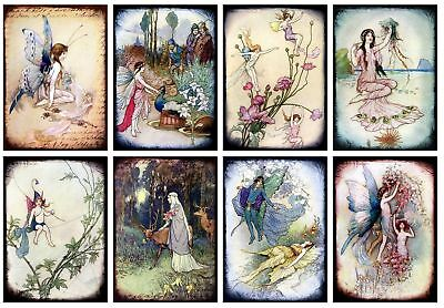 Fantasy Fairies Glossy Finish Card Topper - Crafts Embellishment