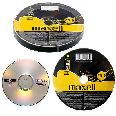 GENUINE MAXELL 5X CD-R BLANK RECORDABLE DISCS CDs MEDIA BLANK DISKS 52X SPEED