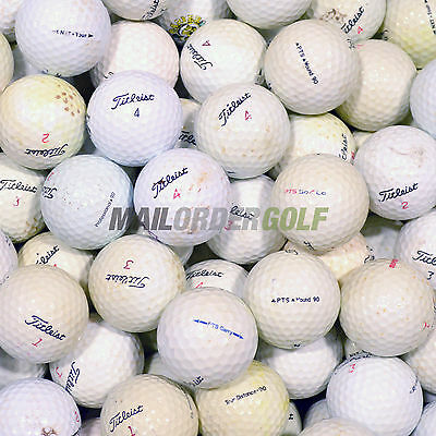 100 Titleist Mixed Model Practice Grade Golf Balls Incs DT So/los PTS Roll etc