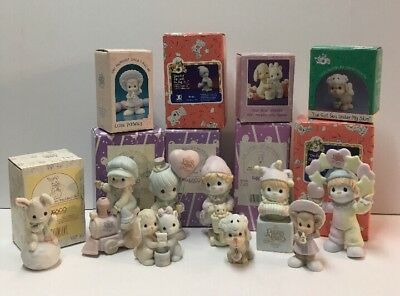 Precious Moments Figurines lot of 9 Mint In Original Boxes 1991-1997