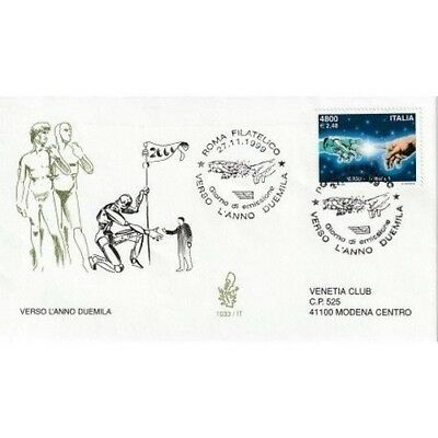 1999 FDC Venetia 1033 / It Italy Verso L' Year Two Thousand MF80504