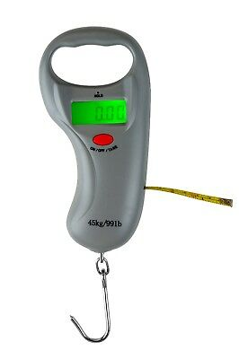 Digital LCD Electronic Fish Weighing Scales w' Tape Measure - ReelSonar Luggage