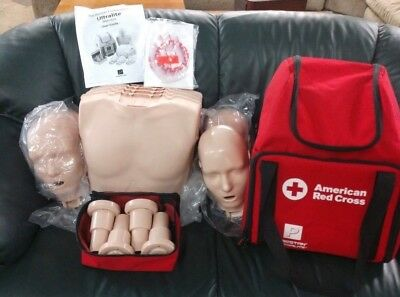 4 Ultralite Adult Prestan American Red Cross  Cpr Manikins And Case Instructions