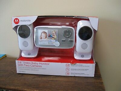 "NEW!! MOTOROLA 2.8""  Video Baby Monitor with 2 Cameras - (MBP483-2)"